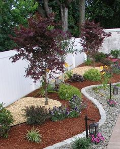 26 Phenomenal Landscape Edging Ideas   SloDive   Love The Levels Created By  The Different Mulch Part 77