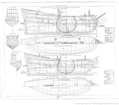 Collection de plans ou Dessins de navires et de bateaux anciens et modernes, existants ou disparus : avec les éléments numériques nécessaires à leur construction / par le vice-amiral Paris,...