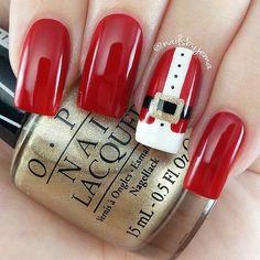 Beautiful new year's nail, Nail Design 2016, Nails ideas 2016, New Year nails 2017, New year nails ideas 2017, New years nails, Party nails, Red and white nails