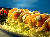 Tex Wasabi's Koi Fish Tacos by Guy Fieri - These look soooo good.  Great date night in recipe.  ;)