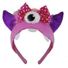 Pink One Eyed Monster Girls Costume Headband