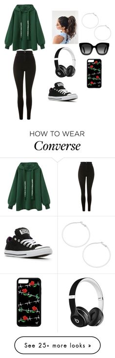 """Today is the Day"" by melody-harmonix on Polyvore featuring Topshop, Converse, Design Lab, Beats by Dr. Dre and Gucci"