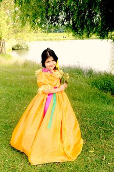 Princess Costume  Amber Fancy Dress with by #FriolinaFancyDesigns