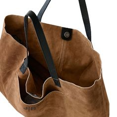 The soft, relaxed feel of suede is balanced with unmistakable craftsmanship to create a durable, wearable, everyday tote that already feels like your go-to carryall. The high-quality suede is complemented by double-sided leather straps, magnetic s… Leather Purses, Leather Handbags, Leather Totes, Leather Bags, Pink Leather, Minimalist Bag, Personalized Tote Bags, Boho Bags, Purses And Handbags