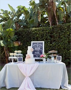 outdoor dessert table