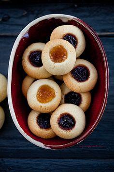 Dżemowe oczka - ciasteczka 'thumbprint'