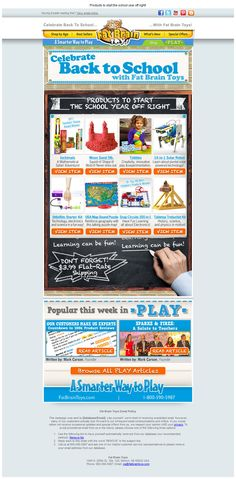 Fat Brain Toys - Subject line: PLAY is learning - Back to School with Fat Brain Toys