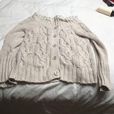 Sweater Medium Beige sweater size Medium 5 hole button up 100% cotton Sweaters Cardigans