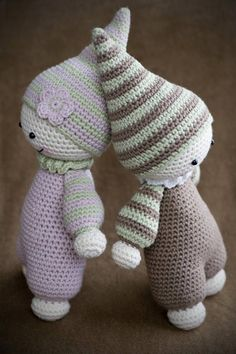 Downloadable pattern written in English (US terminology), Dutch and Danish. Crochet your little one the cutest baby doll ever, so she can feel the warmness of her mom`s heart every day! Cuddly-baby is inspired by waldorf dolls and is designed to be soft and baby-safe. This doll doesn`t include any tiny details for parents to be worried about. Nothing happens even if the baby puts the toy in its mouths. When giving the Cuddly-baby to your child only for sleeping, it is a good way to...