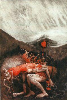 """""""La Condesa Sangrienta"""" de Alejandra Pizarnik, (Libros del Zorro Rojo) Santiago Caruso."""