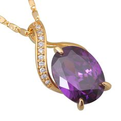Find More Pendants Information about Fashion cz diamond 18K Yellow gold plated Purple cubic zirconia Necklaces & pendants P059,High Quality pendant peacock,China pendant jade Suppliers, Cheap pendant chain from Dana Jewelry Co., Ltd. on Aliexpress.com