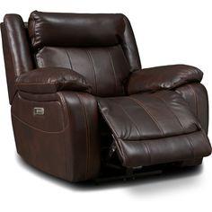 Vince Dual-Power Recliner | American Signature Furniture