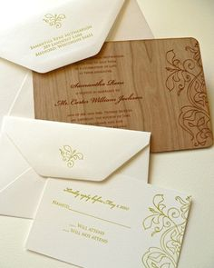 wood wedding invites :)