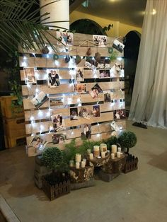 Bridal Shower Decorations 178947785182279184 - wedding photo display wood pallet backdrop Source by dellems Winter Wedding Decorations, Bridal Shower Decorations, 21st Decorations, Reception Decorations, Whimsical Wedding Decor, Winter Wedding Ideas, Shabby Chic Wedding Decor, Garden Party Decorations, Engagement Party Decorations