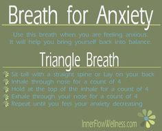 Yoga Quotes : I've suffered from panic/anxiety disorder for over forty years and I cannot stress the importance of concentrating on breathing techniques for anxiety. Anxiety Help, Stress And Anxiety, Anxiety Facts, Anxiety Thoughts, Anxiety Humor, Mindfulness Meditation, Health Fitness, Mental Health, Health And Wellness