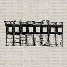 Vintage Books Tattered And Worn Digital Image Transfer Frame Burlap Pillows Tea Towels Paper Crafts INSTANT DOWNLOAD