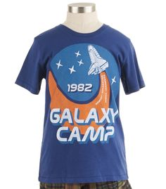 "As my daughter says, ""Why do boys get all the cool stuff?"" Raid the boys department if your girl dreams of being an astronaut. From Peek Kids Clothing, sizes 2-14."