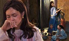 Ana llora, y Peniná, rodeada por sus hijos, la mira con arrogancia