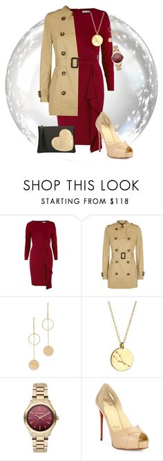 """""""dress"""" by emily-richardson-alvarez ❤ liked on Polyvore featuring Jaeger, Cloverpost, Chupi, Karl Lagerfeld, Christian Louboutin and Gum by Gianni Chiarini"""