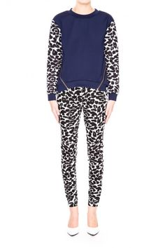 Finders Keepers   For You Jumper   Petrol/Leopard Print   SHOP NOW   BNKR  