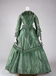 Dress Date: ca. 1870 Culture: British Medium: silk Accession Number: 1980.409.1a–c