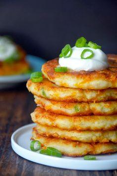 || cheesy mashed potato pancakes