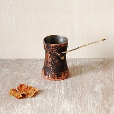 I really love Turkish Coffee.   Vintage Copper Brass Turkish Coffee Brewer by SoBackThen on Etsy, €11.00