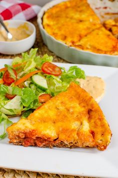 Syn Free Cheeseburger Quiche - this really is all the great things about a Cheeseburger made into a delicious Slimming World friendly quiche.