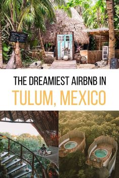 Where to stay in Mexico? Let me introduce you to the dreamiest Tulum Airbnb - for honeymooners, digital nomads & wanderers. Tree houses, jungle villas, beach condos, and chic rooms in Tulum town as well as Tulum Playa. As well as tips on how to book your Airbnb in Tulum. #mexico #tulum Airbnb in Tulum | Tulum Mexico Airbnb | Best Airbnb in Tulum | Rental houses in Tulum | Where to stay in Tulum | Tulum Accommodation | Where to stay on Tulum beach Tulum Mexico Resorts, Mexico Vacation, Mexico Travel, Mexico Trips, Cancun, Mexico Destinations, Cool Places To Visit, Places To Travel, Places To Go