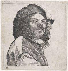 Buste van man met bontmuts, Michael Sweerts, 1656