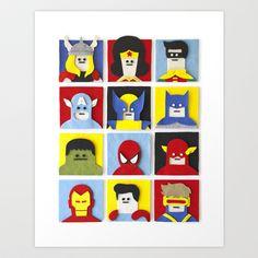 Felt Heroes Art Print by Jacopo Rosati - $15.00