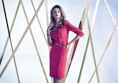 #lookbook #prettyonewarsaw Kolekcja Autumn Winter 2014/15  sukienka dopasowana, czerwona