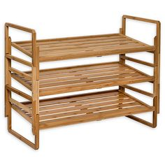 Honey Can 3 Tier Nesting Bamboo Shoe Rack Home - Bloomingdale& # . Small Shoe Rack, Diy Shoe Rack, Shoe Storage, Shoe Racks, Bamboo Shoe Rack, Stackable Shoe Rack, Nest Design, Diy Coffee Table, Closet System