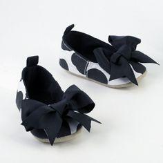 baby girl polka dot bow shoes