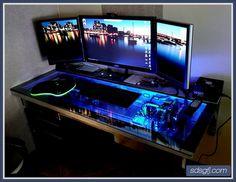 Cool Computer Desk adjustable custom computer desk mod fit for a true geek | custom