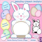 Clipart: Easter Bunny Frame, Eggs, and Background Clip Art Set  This Easter clipart set features:  - a pastel colored Easter Bunny frame;   - 9 col...