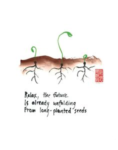 Zen affirmation - set of 6 greeting cards of seedlings - haiku and sumi ink painting. Taoism Quotes, Zen Quotes, Life Quotes, Inspirational Quotes, Zen Sayings, Lao Tzu Quotes, Beach Quotes, Poemas Haiku, Frases Zen