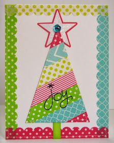 Snippets By Mendi: Day 10- A Washi Tape Christmas Tree Card