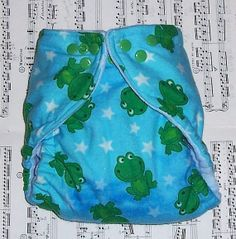 Custom Cloth Diaper Star Frogs by Los Chiquitos by loschiquitos, $9.25