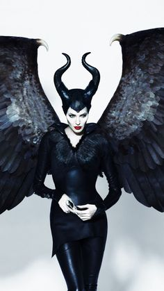 Maleficent, Angelina Jolie, witch, wings, movie, 720x1280 wallpaper
