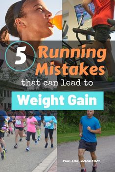 If youre running to lose weight or youre just hoping to maintain your weight try to avoid these running mistakes that could lead to weight gain so you dont see that number on the scale creeping up. Running Food, Running Plan, Running Race, Running Tips, Loose Weight, Weight Gain, Weight Loss, Stretches For Runners, Half Marathon Training Plan