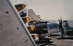 Page 9 of 12 - A-1H US NAVY Skyraider (Trumpeter A-1J kit - 1/32) - posted in Works in Progress: Hi Allan, the USN didnt use the miniguns on their A-1s, Most photos show that not all pylons were loaded as there were weight limits especially when returning to the carrier and not having dropped anything. Scroll down a bit here: http://www.alternate...1_July_1967.pdf to see what could be loaded on the pylons. Jari