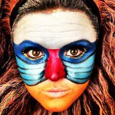 Rafiki Halloween makeup