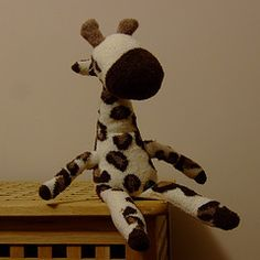 Sock giraffe tutorial...love the idea of making A-Bomb's favorite toy