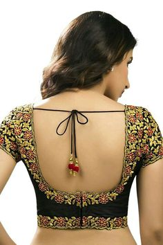 Must check out the new styles of Indian saree blouse designs front and back styles. All of these saree blouse designs are full of attractive colors. Brocade Blouse Designs, Saree Blouse Neck Designs, Fancy Blouse Designs, Designer Blouse Patterns, Sarees, Designer Wear, Saree Fashion, Women's Fashion, Fashion Ideas