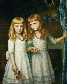 Marjorie and Lettice Wormald by Arthur Hughes