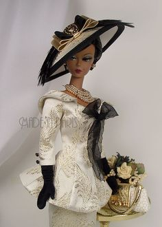 """*MADE IN PARIS* """"Rhapsody in Gold"""" For Silkstone Barbie by MADEinPARIS, via Flickr"""