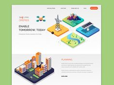Drones - Landing page by ranganath krishnamani #Design Popular #Dribbble #shots