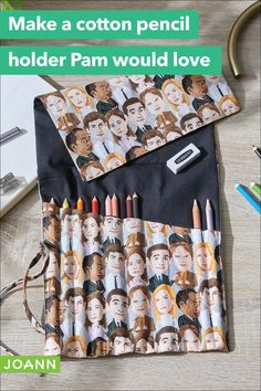 Planning on taking some art classes? Make sure you have this pencil holder to hold all your favorite tools! This beginner project is a great easy sewing project - and you can use our new fabric featuring characters from The Office! Get Directions, Step By Step Instructions, Easy Sewing Projects, Craft Projects, Pencil Holder, Store Hours, Joanns Fabric And Crafts, Craft Stores, Bullet Journal