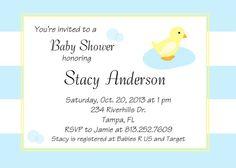 Ducky Baby Shower Printable Invitations by TrishsDesignStudio